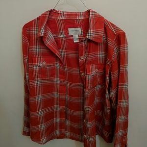 Like new--F21 plaid shirt